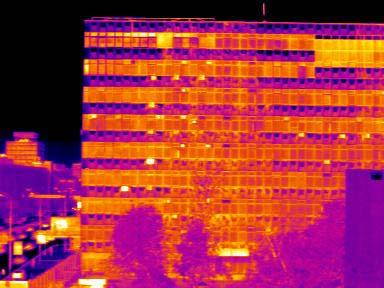 Тепловизор tp8 термограмма здания